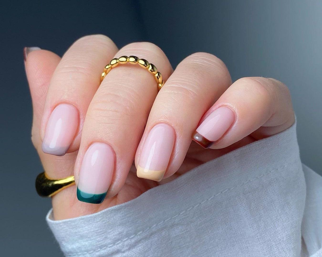 Nagellack Trend Die French Nails bekommen 12 ein farbiges ...